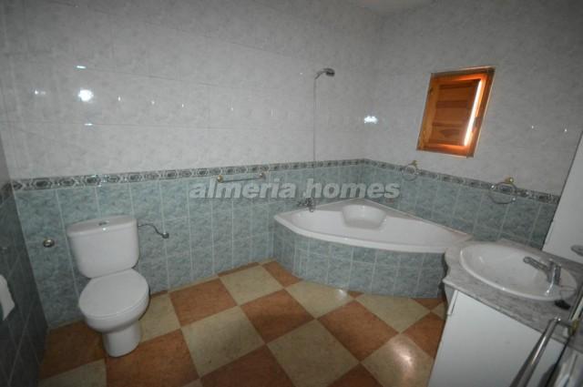 Bathroom on left